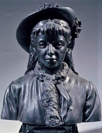 Zacharie Astruc, 1877, Isabelle Astruc, bronze, 61x43x31, MBA Angers (iR23;iR1). Maybe: SdAF-1883-3293, Portrait d'Isabelle Zacharie Astruc ; buste, bronze.
