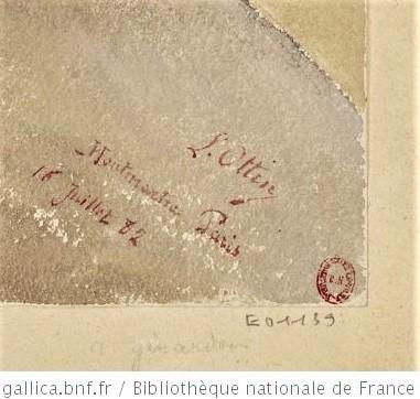 L(éon) Ottin, 1882/07/16, (subscription) L. Ottin Montmartre Paris 16 juillet 82, wc, 23x30, BNF (iR40;iR10;iR35)