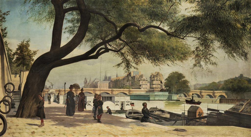 L(éon) Ottin, 1886, Vue du Pont-neuf, 110x201, A2017/06/15 (iR11;iR10;iR16;iR17;iR41;iR1). Maybe: S1885-3080-1, Le Pont-Neuf.