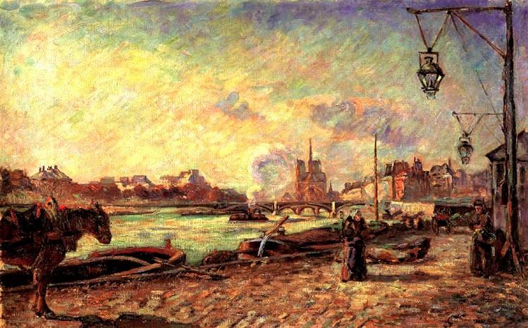 Armand Guillaumin, 6IE-1881-45, Quai de la Râpée. Probably: 1881ca, Quai de la Rapée, 50x79, private Paris