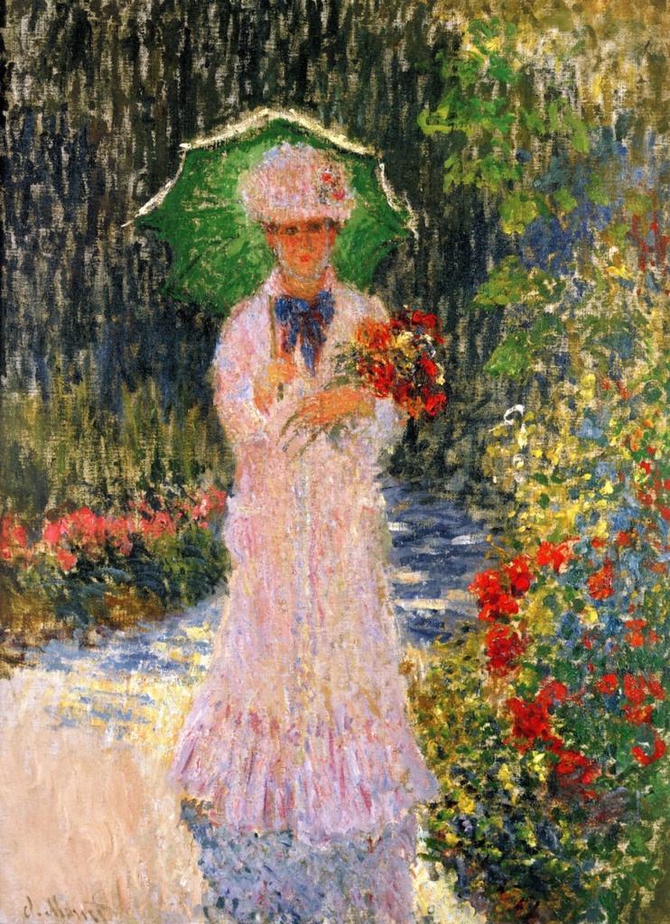 Claude Monet, 1876, CR413, Camille with a green umbrella, 81x60, private