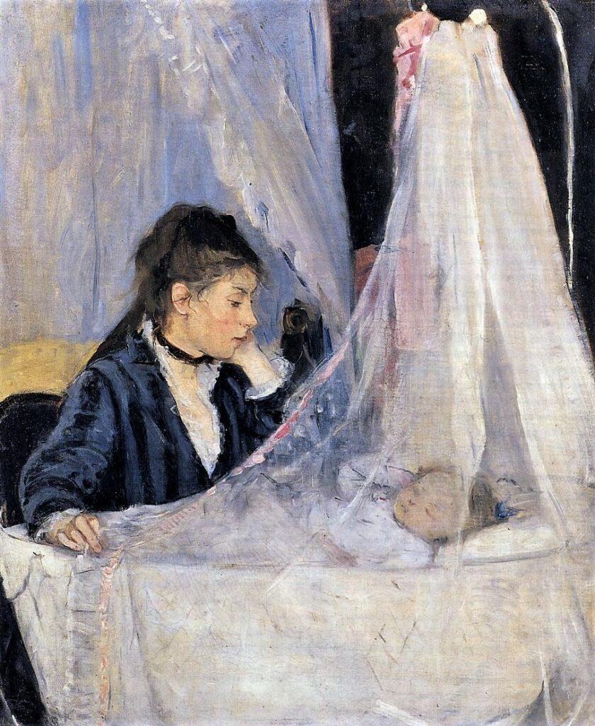 Berthe Morisot, 1IE-1874-104, Le berceau. Now: 1872, CR25, The Cradle, 56x46, Orsay