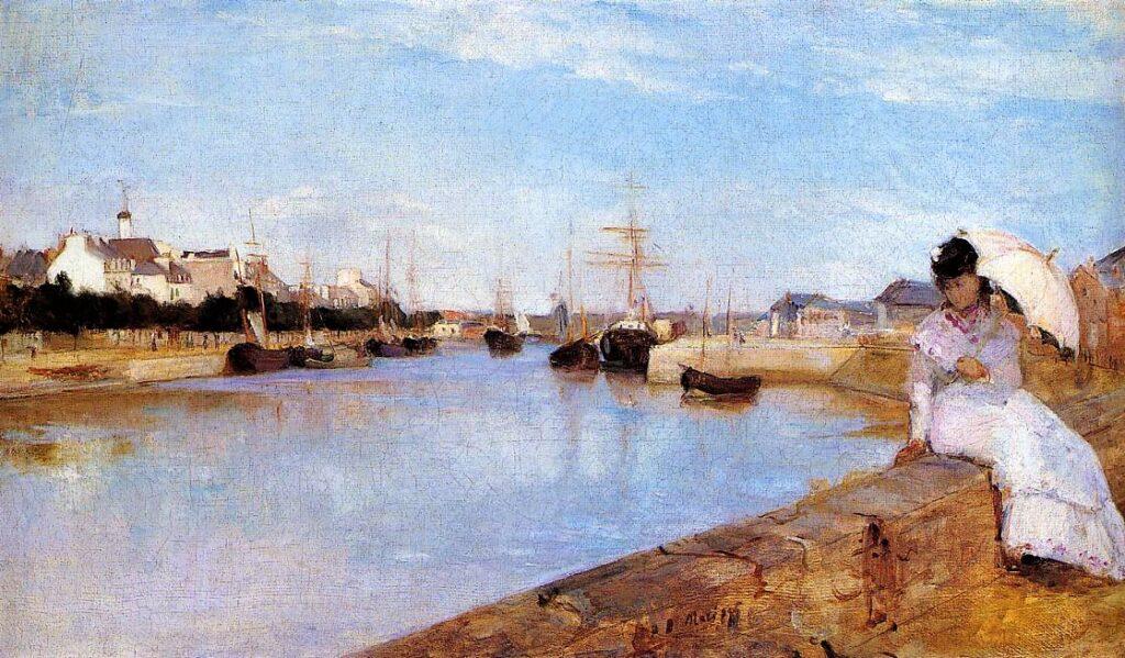 Berthe Morisot, 1IE-1874-107, Marine. Maybe: 1869, CR17, The Harbor at Lorient, 44x73, NGA Washington