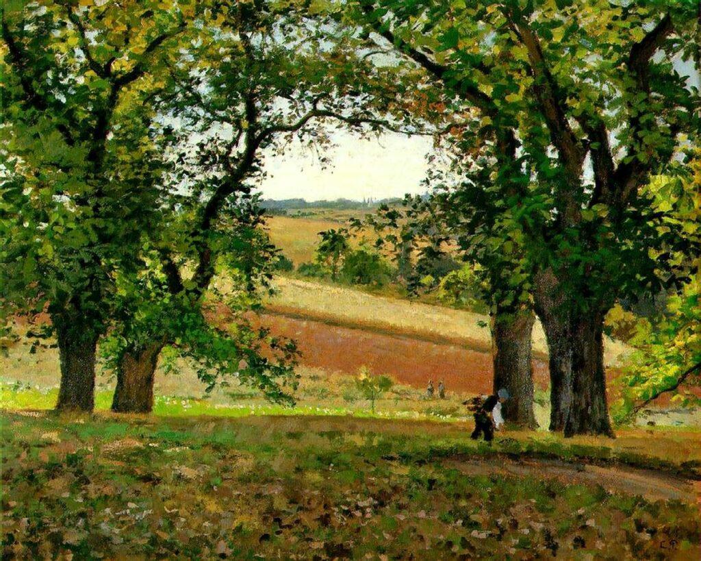 Camille Pissarro, 1IE-1874-138, Les châtaigniers à Osny = 1873ca, CCP313, Chestnut Trees at Osny, 65x81, private (iR10;iR6;iR2;iR59;R2,p139;R116,no313;R126,no236;R87,p249;R90II,p27)