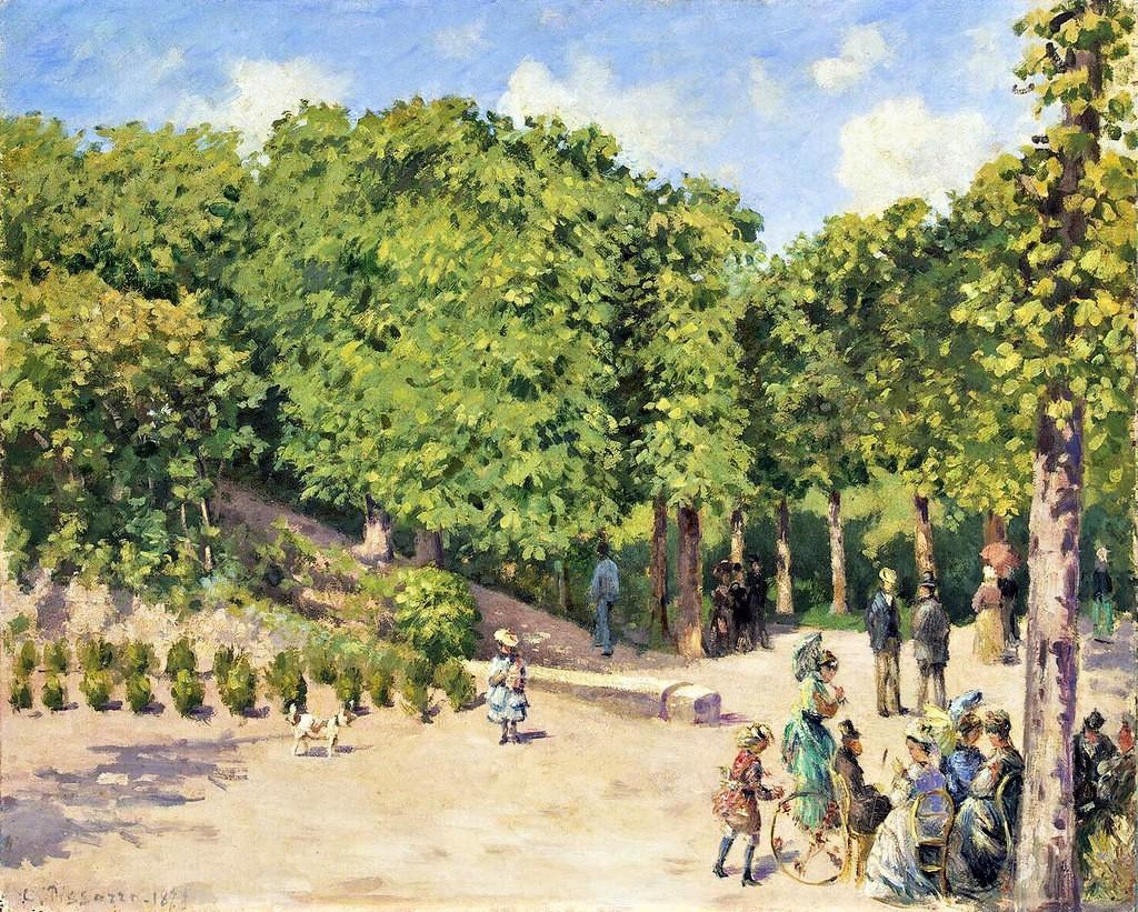 Camille Pissarro, 1IE-1874-139, Jardin de la ville de Pontoise. Probably: 1873, CCP309, The Municipal Garden, Pontoise, 60x73, Hermitage (iR10;iR94;iR2;iR59;R116,no309;R126,no231;R2,p122;M95)