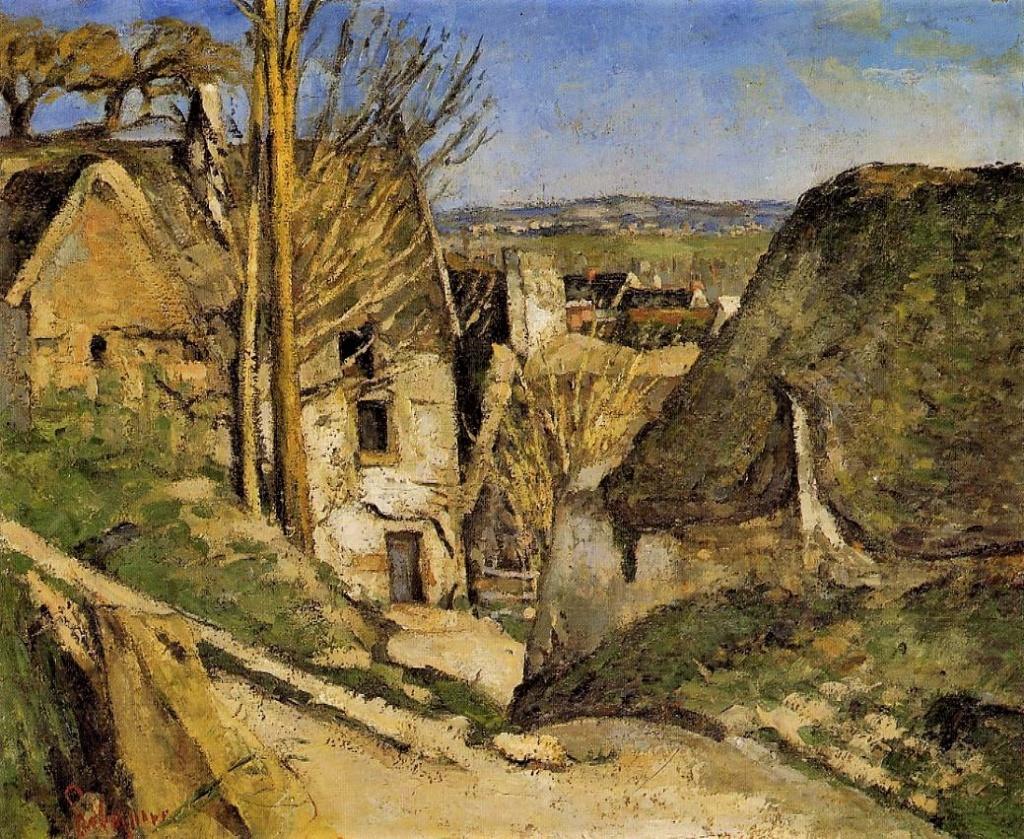 Paul Cézanne, 1IE-1874-42, La maison du Pendu, à Auvers-sur-Oise. Now: 1872-3, CR133+FWN81, Auvers-sur-Oise, house of the hanged man, 55x66, Orsay (iR2;iR59;iR194,no81;R189,no133;R90II,p21;R87,p235;R2,p120;R48,no136;R163,p46)