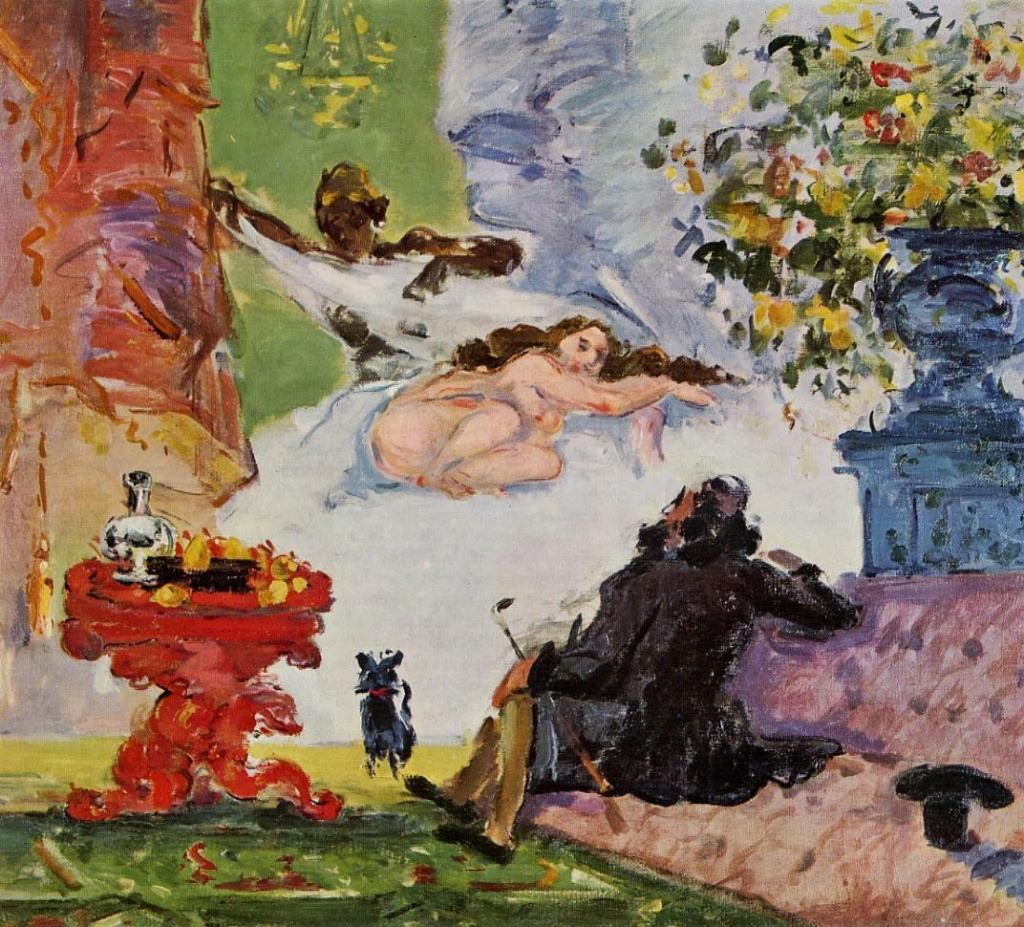 Paul Cézanne, 1IE-1874-43 Une moderne Olympia, esquisse. Now: 1873, CR225+FWN628, a modern Olympia, 46x55, Orsay (iR2;iR59;iR194,no81;R189,no133;R90II,p21;R2,p120;R48,no136;R163,p46)