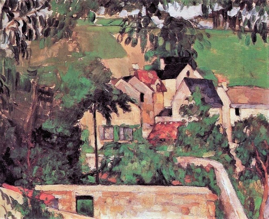 Paul Cézanne, 1IE-1874-44, Étude, Paysage à Auvers. Option 2: 1873, CR157, Quartier Four, à Auvers, 46x55, Philadelphia MA (iR2;iR59;R2,p126;R90II,p21;R87,p235;R48,no148)