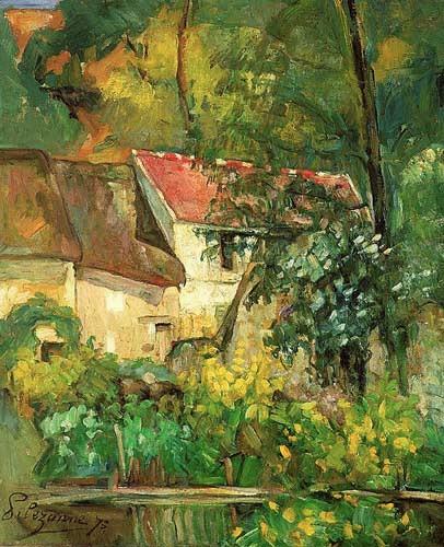 Paul Cézanne, 1IE-1874-44, Étude, paysage à Auvers. Option 1: 1873, CR138+FWN77, House of Père Lacroix, Auvers-sur-Oise, 61x51, NGA Washington (iR10;iR189,no77;R90II,p22;R48,no92;R2,p126;R1,p126)