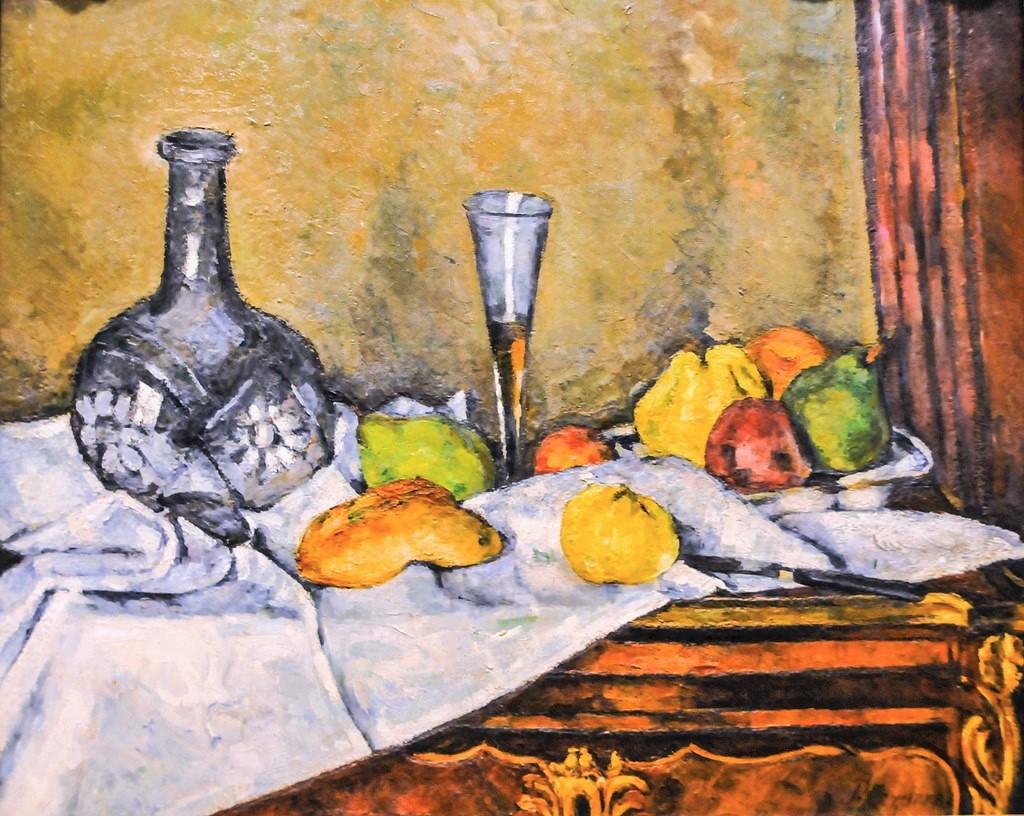 Paul Cézanne, 3IE-1877-18, Nature morte. Maybe: 1873-9, CR197, The desert (still life with bottle glass fruit and dessert), 59x73, Philadelphia MA