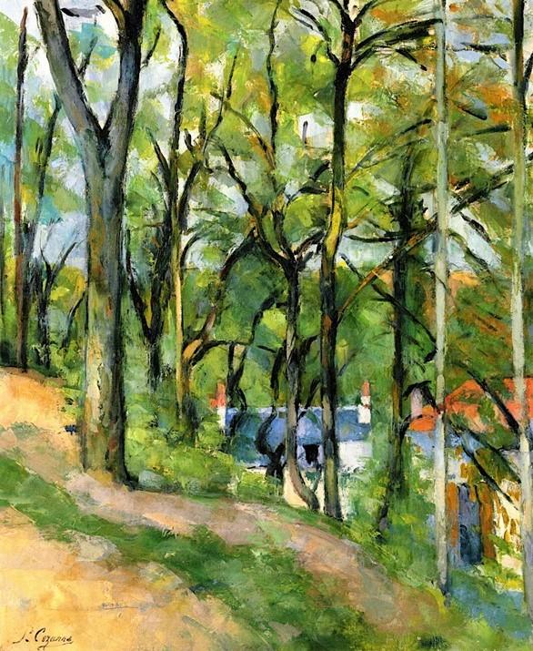 Paul Cézanne, 3IE-1877-24, Paysage; Étude d'après nature. Maybe: 1875-77, CR173, Côte des Boeufs, Pontoise, 50x65, private