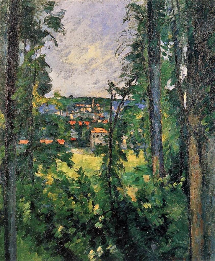 Paul Cézanne, 3IE-1877-25, Paysage, Etude d'après nature. Maybe: 1875-77, CR171, Village (view on Auvers-sur-Oise), 60x50, private