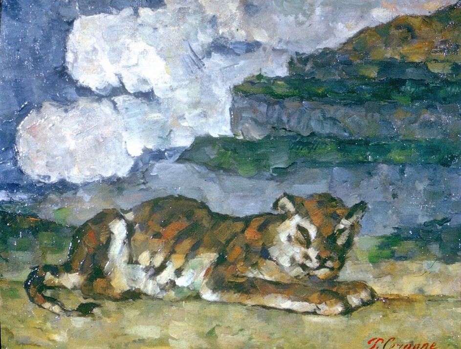 Paul Cézanne, 3IE-1877-27, Tigre. Now: 1873-77ca, CR250+FWN648, Tiger (after Barye), 29x37, private (iR10;iR167;iR194,no648;R189,no250;R90II,p71+88;R2,p204;R48,no265) Chocquet collectie
