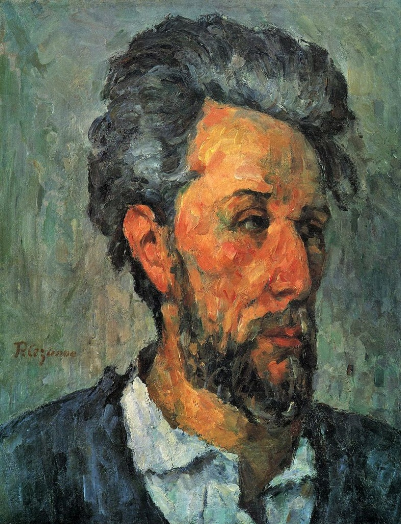 Paul Cézanne, 3IE-1877-29, Tête d'homme, étude. Now: 1876-77, CR283+FWN437, Portrait of Victor Chocquet, 46x37, private NY (iR3;iR2;iR59;iR194,no437;R189,no283;R90II,p29;R2,p215;R48,no243;R163,p67)