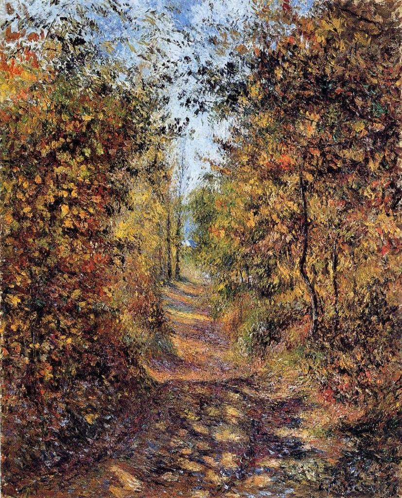 Camille Pissarro, 5IE-1880-131, Automne, chemin sous bois. Now: 1878, CCP575, (A path) in the woods in Autumn, Pontoise, 81x66, A2001/02/05