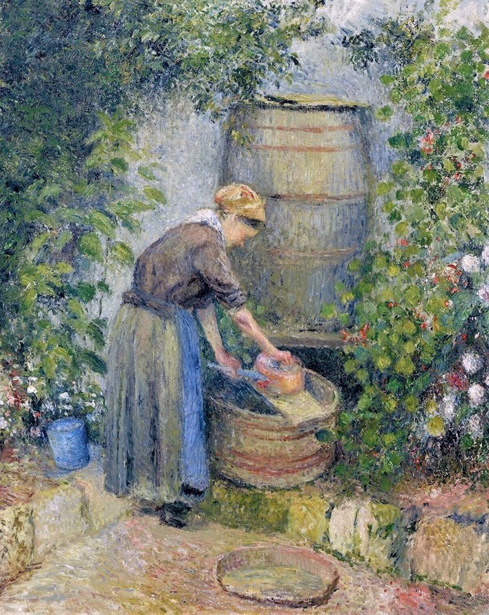 Camille Pissarro, 5IE-1880-133, Récureuse de casserole. Now: 1879, CCP590, Woman Washing a Saucepan, 73x60, private