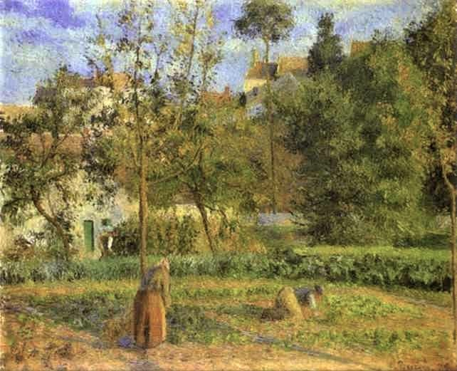 Camille Pissarro, 5IE-1880-134, Jardin potager. Probably: 1879, CCP607, Vegetable Garden at l'Hermitage, Pontoise, 55x66, Orsay