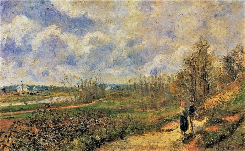 Camille Pissarro, 6IE-1881-63, La sente du Choux en mars. Now: 1878, CCP542, The Path to Le Chou, Pontoise (in March), 57x92, MC Douai