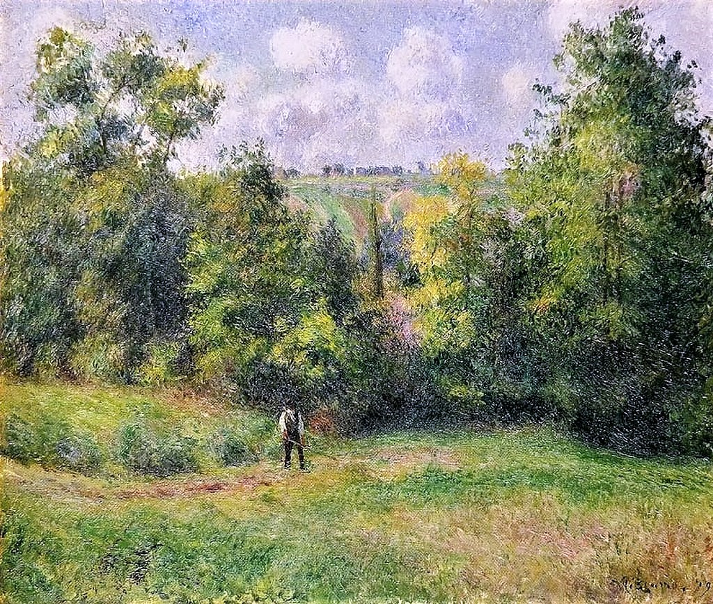 Camille Pissarro, 6IE-1881-72, Paysage pris sur le vieux chemin d'Ennery, près Pontoise. Now: 1880, CCP595, View from the road to Ennery, 54x65, Kanagawa PMA