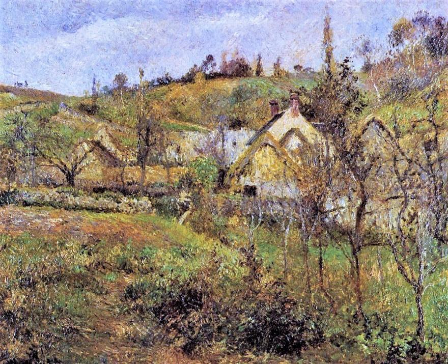 Camille Pissarro, 6IE-1881-73, Temps gris, automne au Val Hermé. Probably: 1880, CCP639, La Valhermeil, Auvers-sur-Oise, 54x65, private