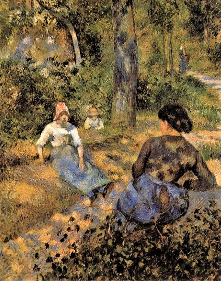 Camille Pissarro, 7IE-1882-104, Étude de figure en plein air, effet de soleil. Now: 1881, CCP655, Peasant women Resting, 81x65, Toledo MA