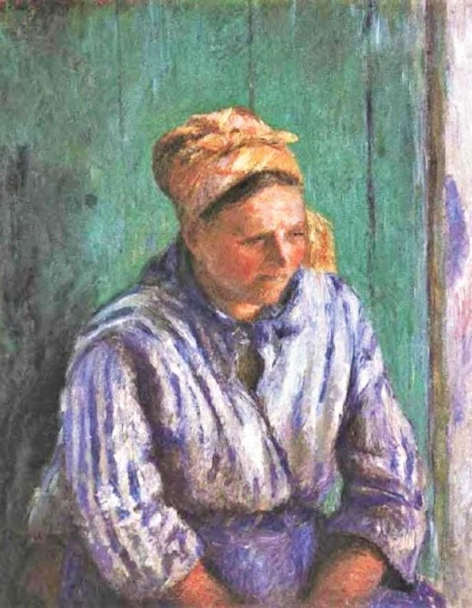 Camille Pissarro, 7IE-1882-107, Laveuse, étude. Now: 1880, CCP640, Washerwoman Study (La Mère Larchevêque), 73x59, Metropolitan