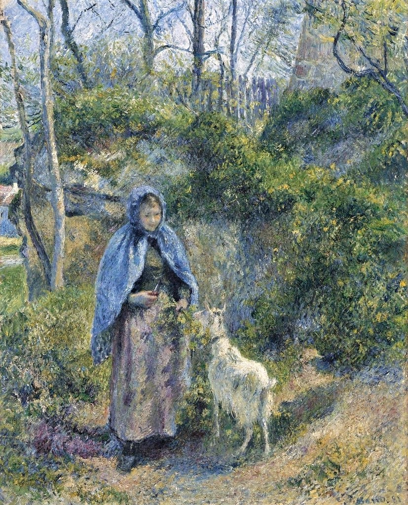 Camille Pissarro, 7IE-1882-120, La gardeuse de chèvres. Now: 1881, CCP656, The goat girl, 81x65, Metropolitan
