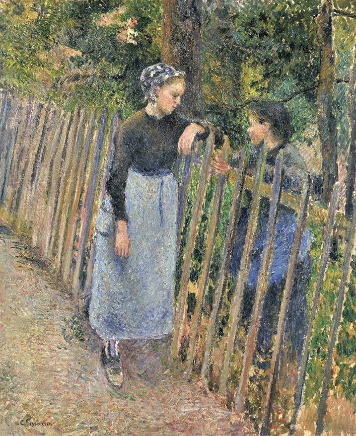 Camille Pissarro, 7IE-1882-122, La conversation. Now: 1881ca, CCP658, The Conversation, 65x54, NMWA Tokyo