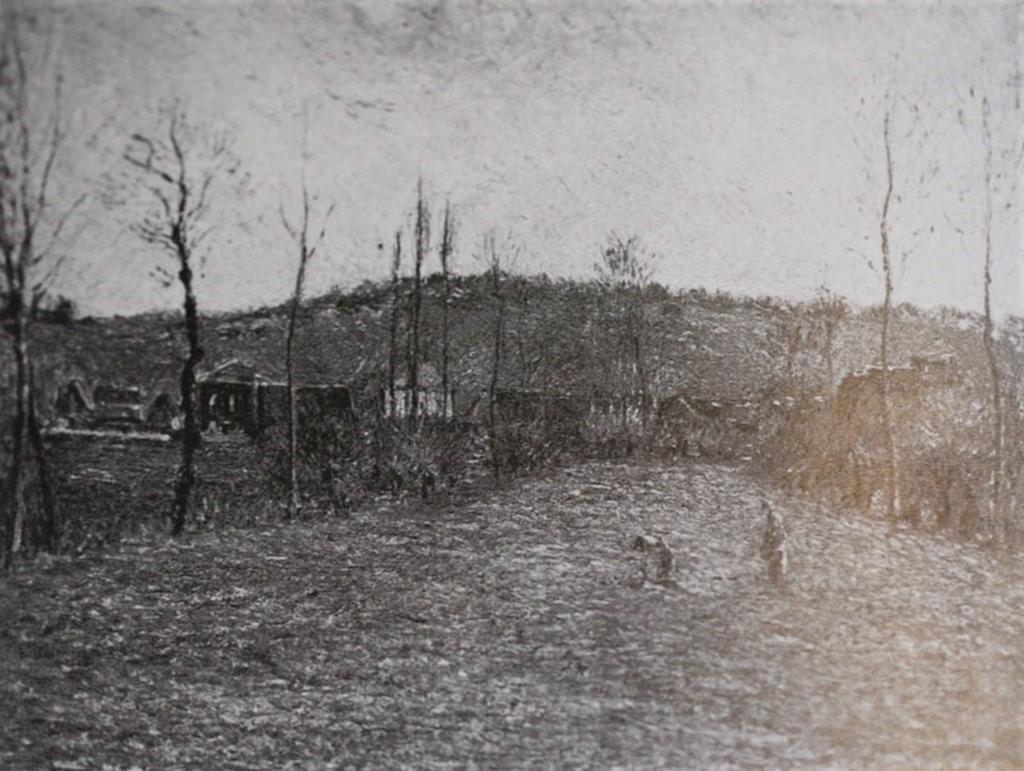 Camille Pissarro, 8IE-1886-101, Marais de Bazincourt, en automne. Now: 1885, CCP813, The marsh at Éragny, 54x65, xx