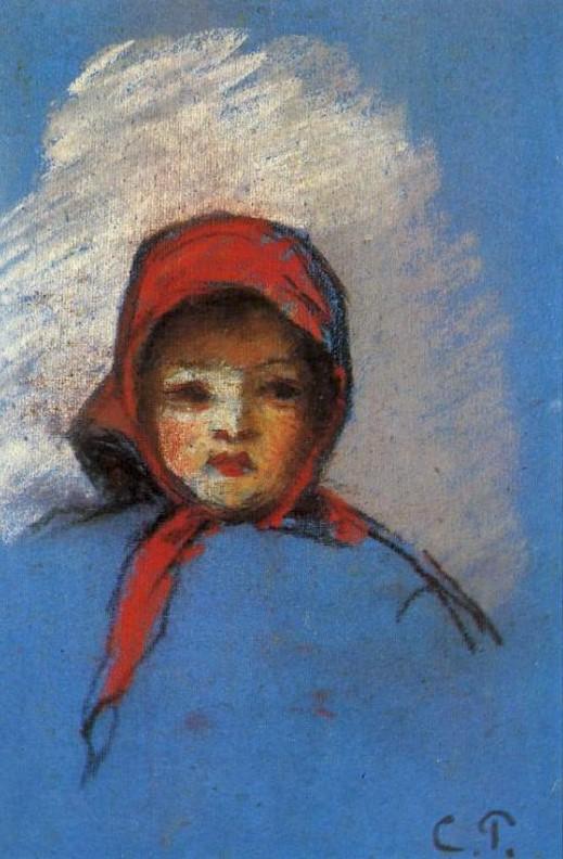 Camille Pissarro, 8IE-1886-108, 1 étude d'enfant (pastel). Very uncertain: 1872, Portrait of Jeanne-Rachel (Minette), pastel, xx, private