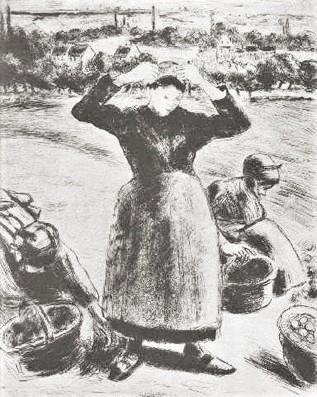 Camille Pissarro, 8IE-1886-109, Récolte de pommes de terre (eau-forte). Uncertain: 1886, Delteil63?, Récolte de Pommes de Terres, etch ps, 28x22, NGA Washington