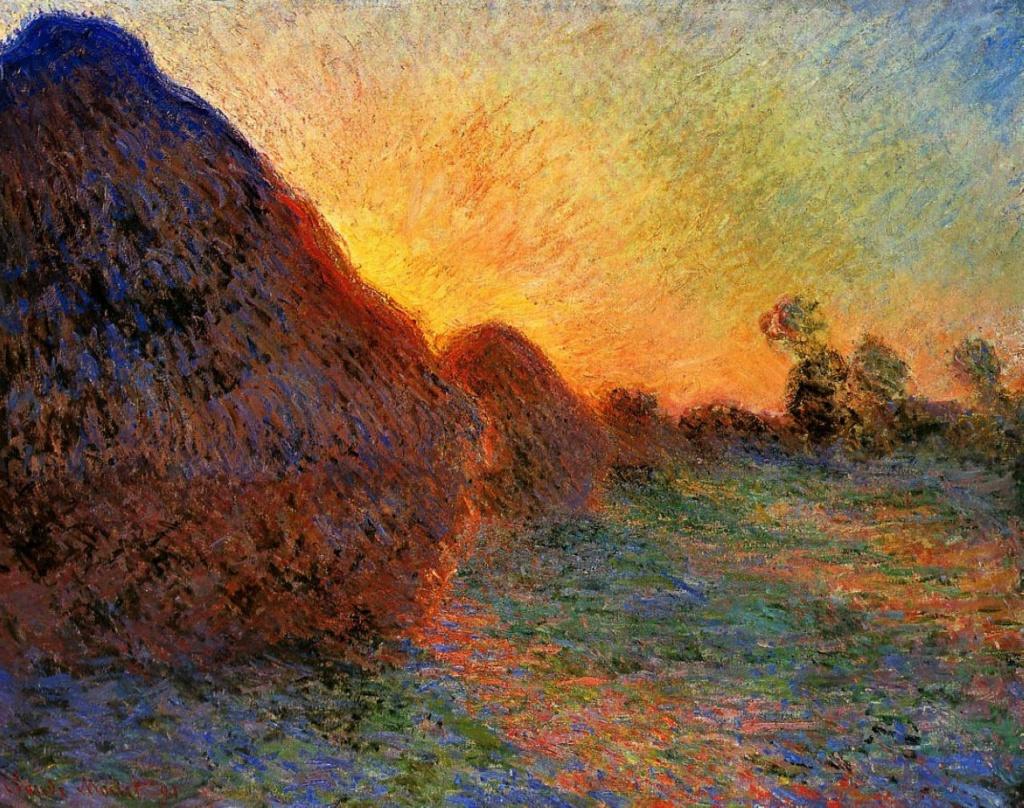 Claude Monet, CR1273, 1891, grainstacks, 73x92, private