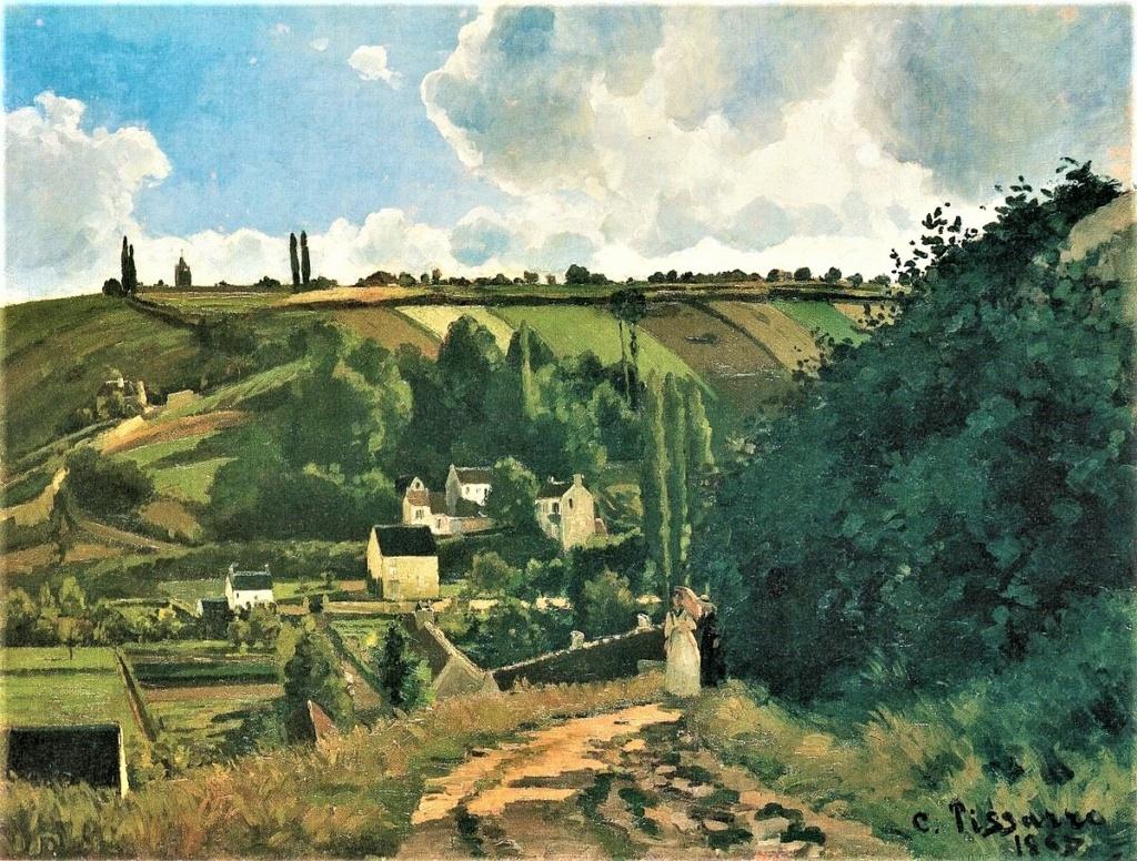 Camille Pissarro, S1868-2015, La côte de Jallais. Now: CCP116, 1867, CCP116, Pontoise, la Côte des Jalais, 87x115, Metropolitan