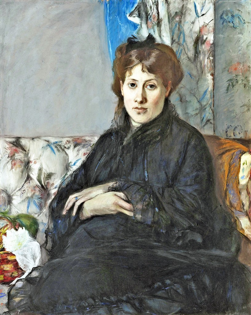 Berthe Morisot, 1IE-1874-112-hc =1871, CR419, Portrait of Madame Edma Pontillon, pastel, 81x65, Orsay