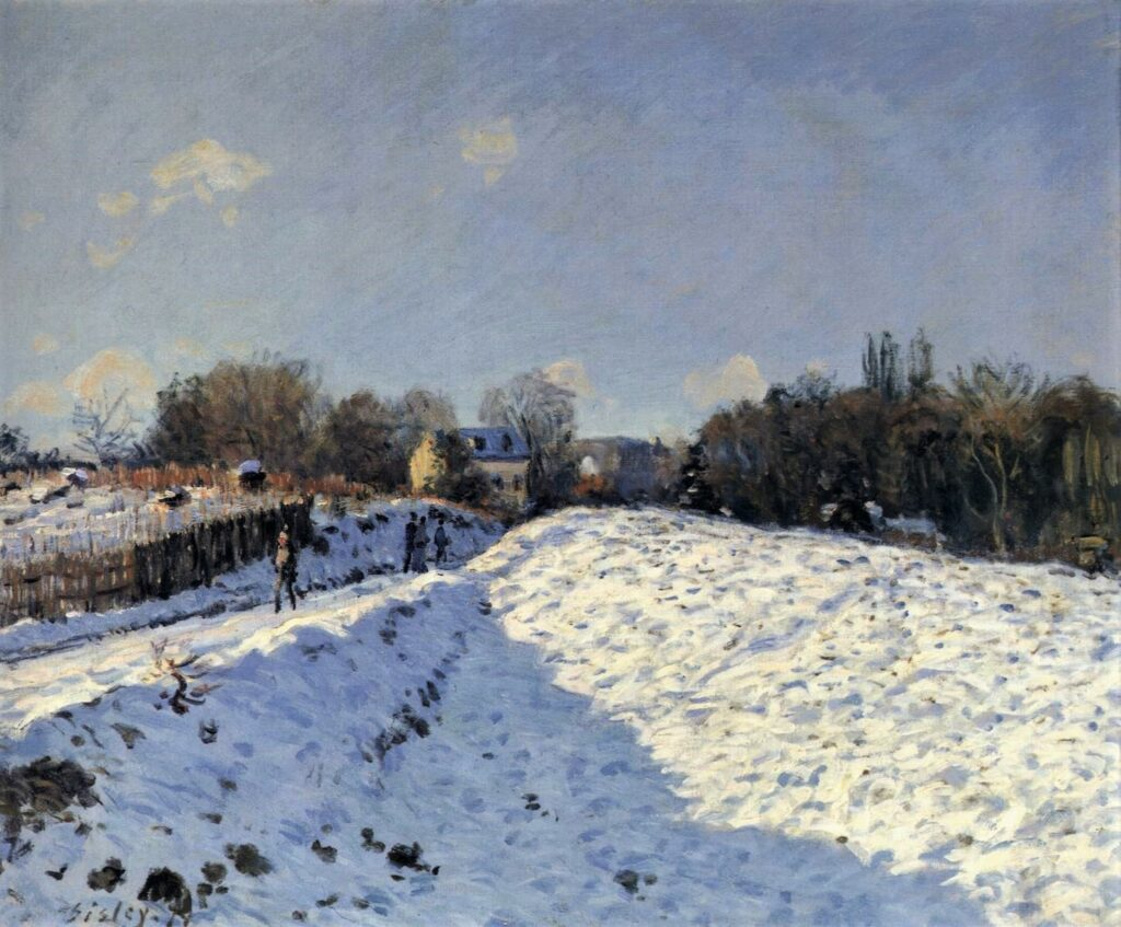 Alfred Sisley, 2IE-1876-237, effet de neige. Maybe(??): 1874, CR147, Snow effect at Argenteuil, 54x65, A2017/03/01