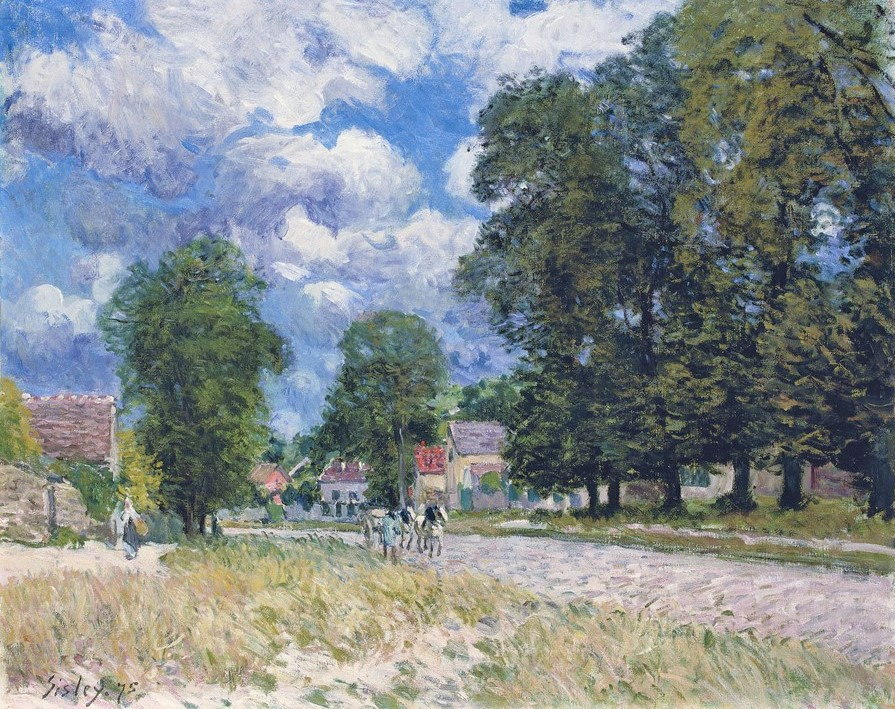 Alfred Sisley, 2IE-1876-239, Une route aux environs de Marly. Maybe(??): 1875, CR175, La route de Marly-le-Roi, 59x73, A2009/02/04