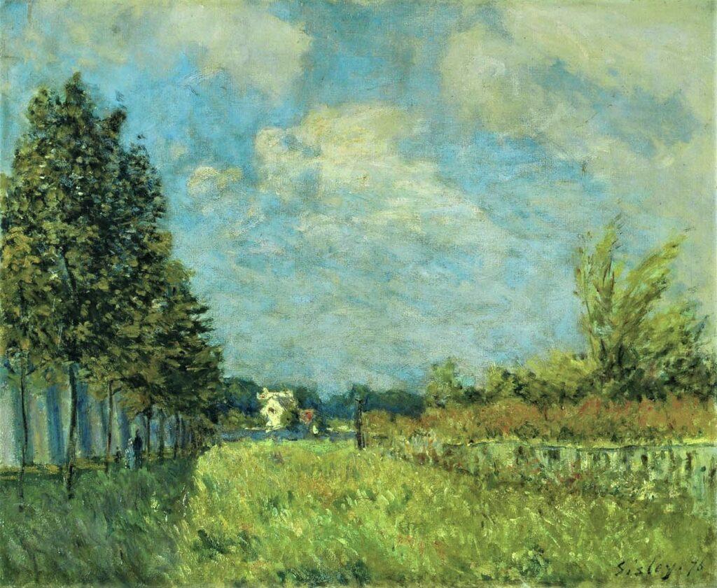 Alfred Sisley, 2IE-1876-242, Le Chemin des Aqueducs. Option 1: 1872, CR42, At the Foot of the Aqueduct at Louveciennes, 46x55, SOR Winterthur