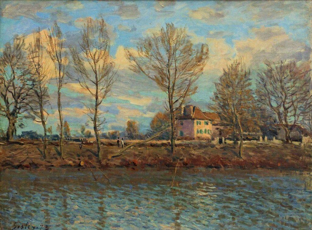 Alfred Sisley, 2IE-1876-244hc2, Maison sur les bords de la Marne. Compare: 1873, CR66, Grand Jatte, 51x65, Orsay