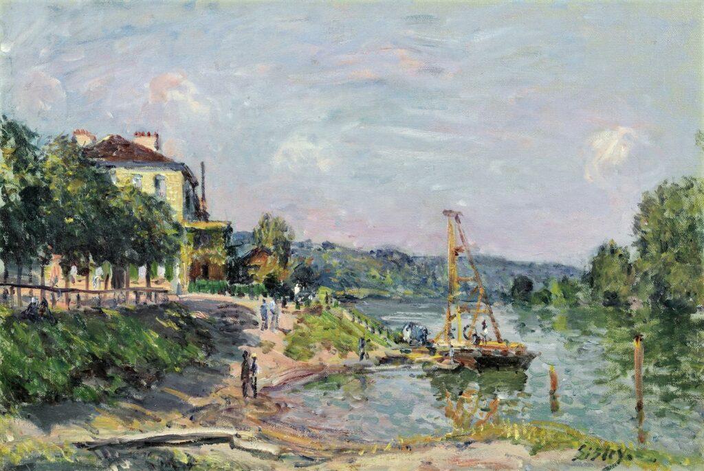 Alfred Sisley, 2IE-1876-244hc2, Maison sur les bords de la Marne. Compare: 1874, CR135, Le petit Bougival, 28x41, A2016/02/04