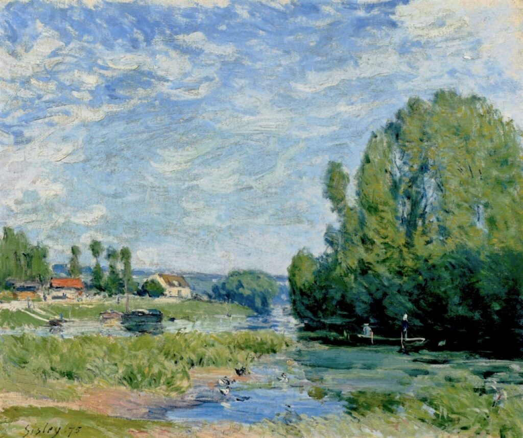 Alfred Sisley, 3IE-1877-212, Le Parc. Maybe: 1875, The Duck Pond, 46x55, A2013/11/06 (iR2; iR11)