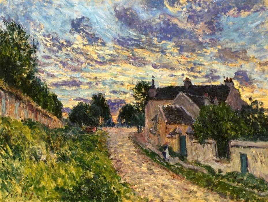 Alfred Sisley, 3IE-1877-213, Route, le soir. Maybe(??): 1876, CR220, a path in Louveciennes, 46x65, private