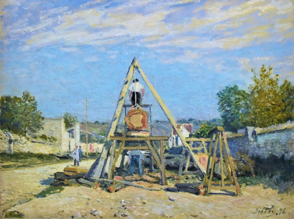 Alfred Sisley, 3IE-1877-214, Scieurs de long =1876, CR230, Pit (Wood) Sawyers, 50x66, MPP Paris