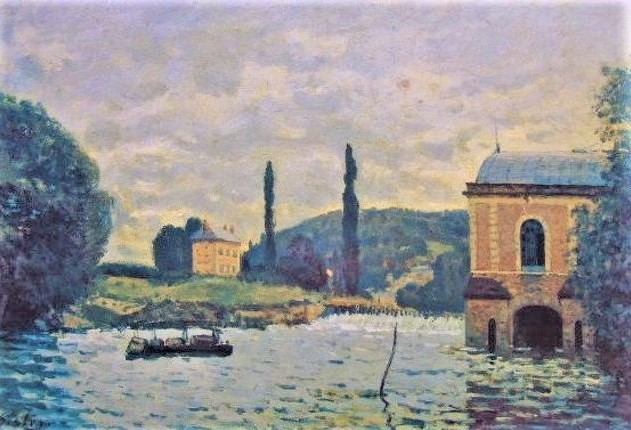 Alfred Sisley, 3IE-1877-219, La machine de Marly. Now: 1876, CR215, Barrage de la Machine de Marly, 38x61, private