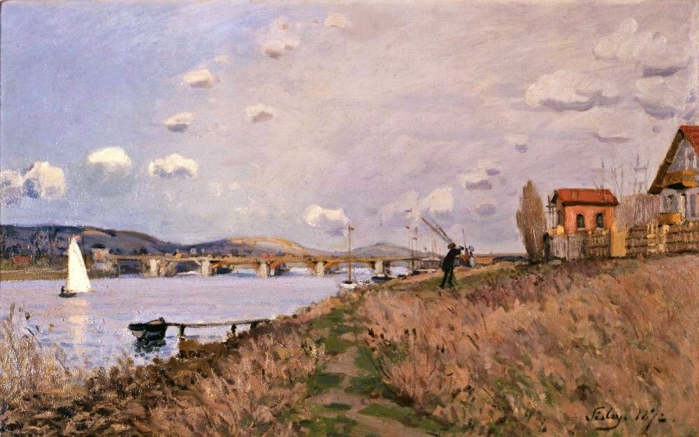 Alfred Sisley, 3IE-1877-220, Le pont d'Argenteuil en 1872. Now: 1872, CR30, The Bridge at Argenteuil, 39x61, Memphis BMA