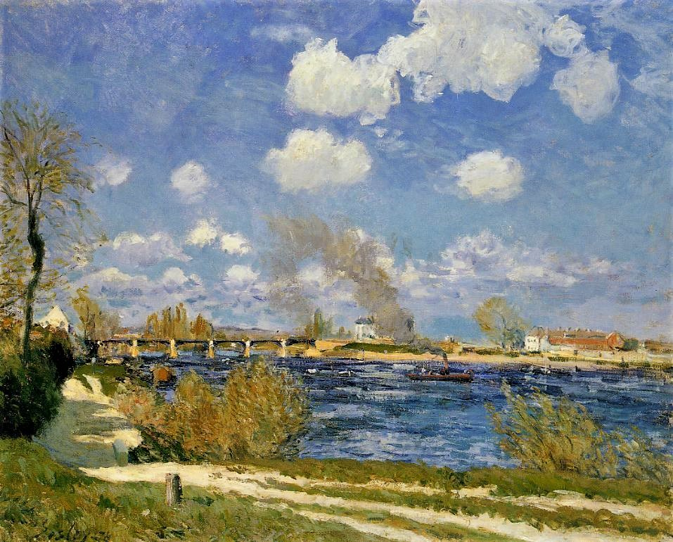 Alfred Sisley, 3IE-1877-221, Bords de la Seine, coup de vent. Perhaps: 1876, CR228, Bougival, 60x73, Cincinnati AM