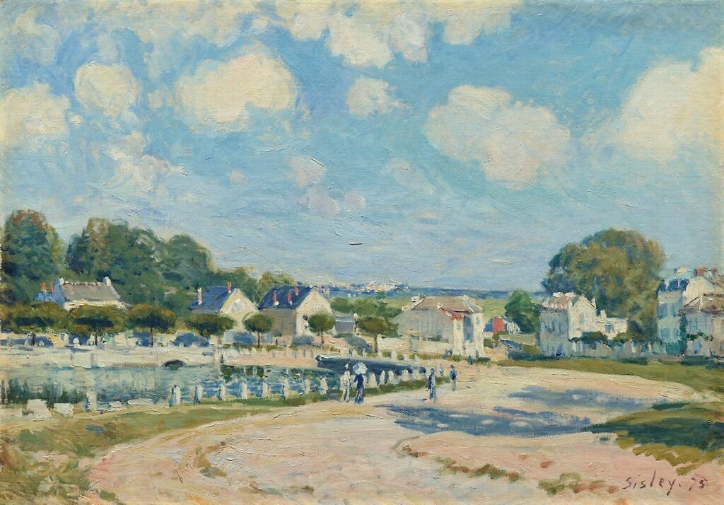 Alfred Sisley, 3IE-1877-222, L'Abreuvoir, à Marly. Maybe(??): 1875, CR169, The watering place at Marly-le-Roy, 40x56 AI Chicago