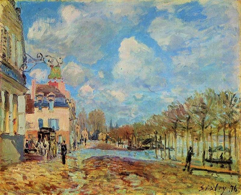 Alfred Sisley, 3IE-1877-227+hc1, Inondations. Maybe(?): 1876, CR236, The Flood at Port-Marly, 50x61, MNTB Madrid