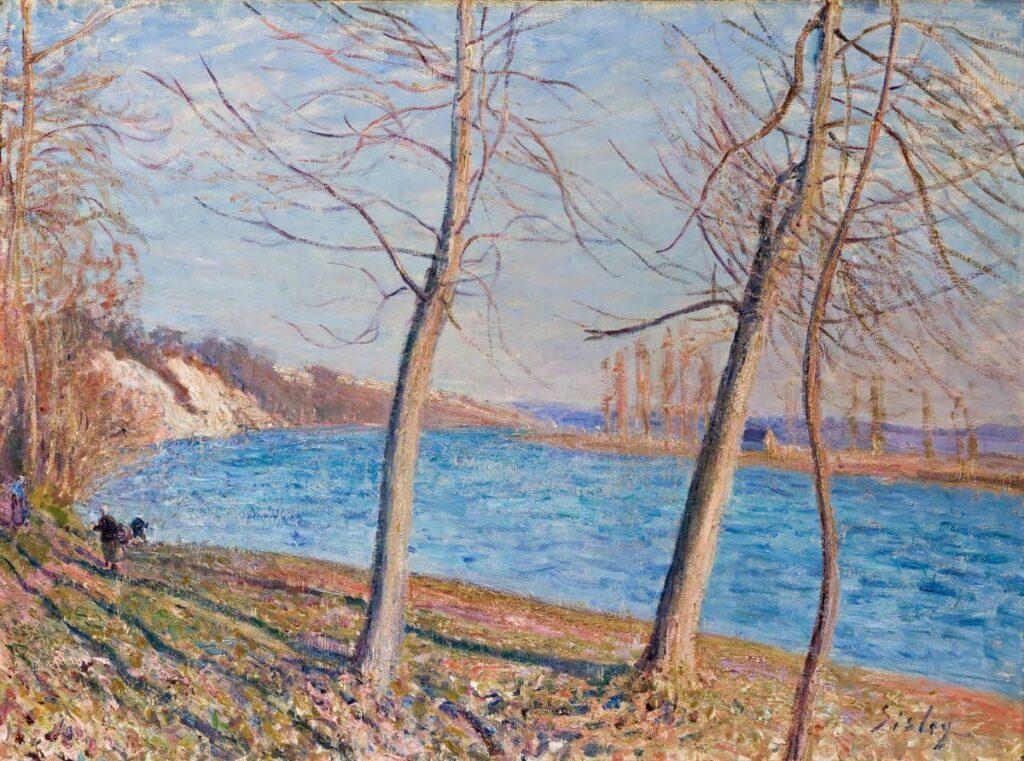 Alfred Sisley, 7IE-1882-164, Au bord du Loing 1880ca, CR410, River Banks at Veneux, 60x81, Johannesburg AG