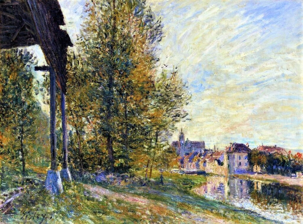 Alfred Sisley, 7IE-1882-168, Cabane au bord de l'eau. Maybe(?): 1881, CR449, Near Moret-sur-Loing, 55x73, A2005/05/04