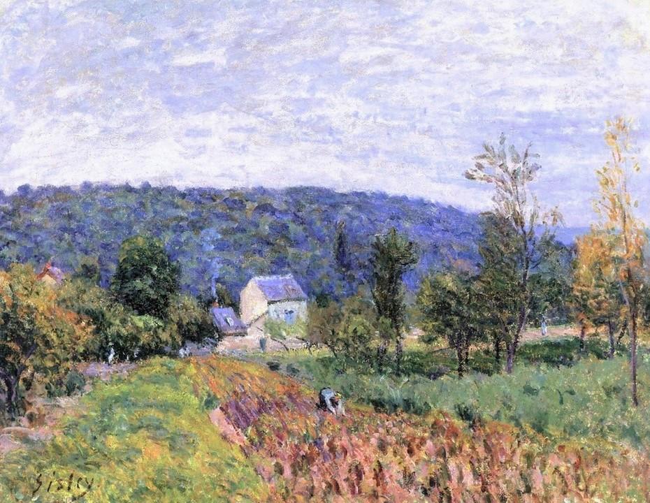 Alfred Sisley, 7IE-1882-171, effet du soir. Maybe(??): 1879, CR304, An Autumn Evening near Paris, 50x65, A2003/02/04